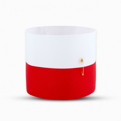 White and red armband