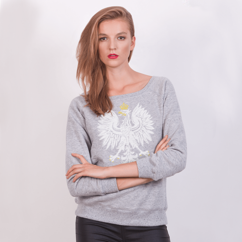 POLISH EAGLE SWEATSHIRT - FEMALE - GRAY